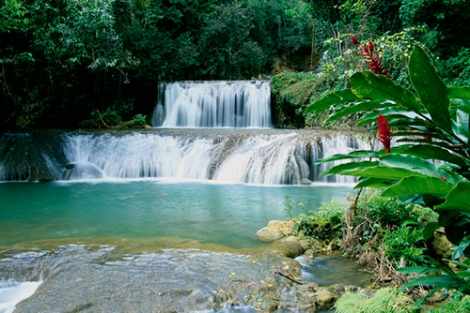 Jamaica --- The terraced Y.S. Falls and its lush surroundings on Jamaica Island. --- Image by © Sergio Pitamitz/CORBIS